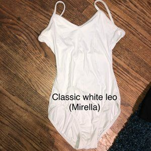 White ballet leotard